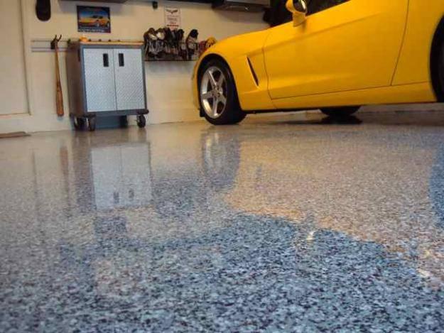 resina epoxi garagem cimentada