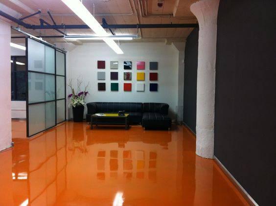 resina epoxi laranja sala de estar