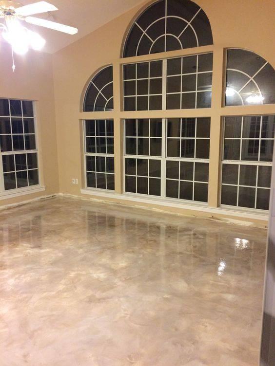 resina epoxi marmorizada clara sala alta