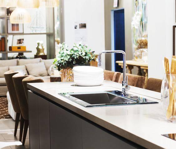 torneiras para cozinha quadrada bancada