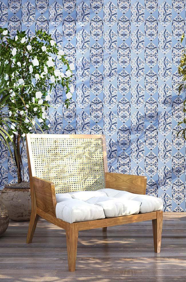 Varanda com azulejo português