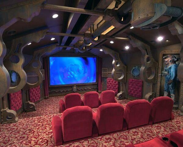 Estrutura impressionante para sala de cinema