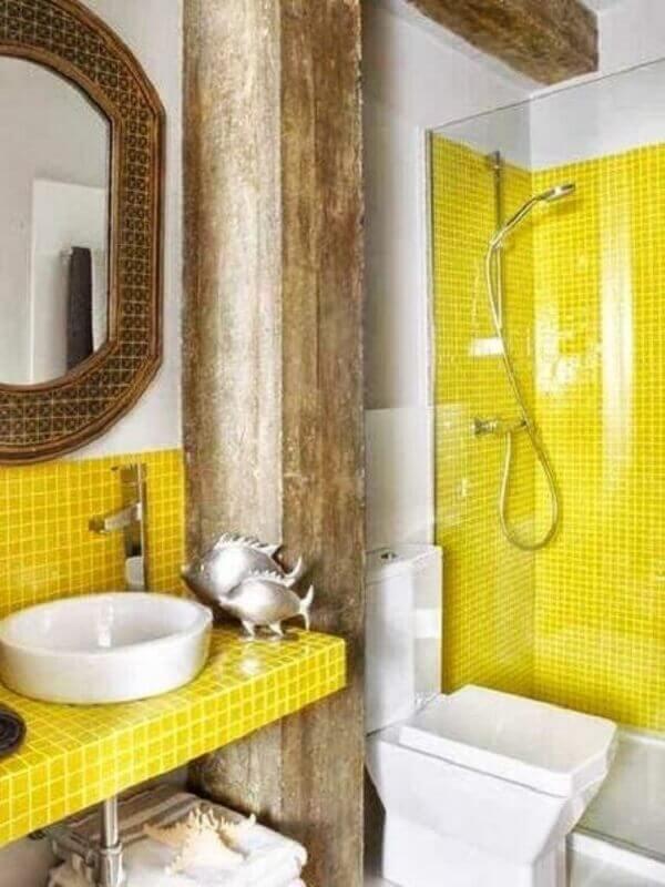 Revestimento para banheiro amarelo