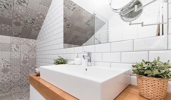 Revestimento para banheiro branco