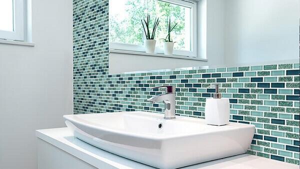 Revestimento para banheiro mesclado