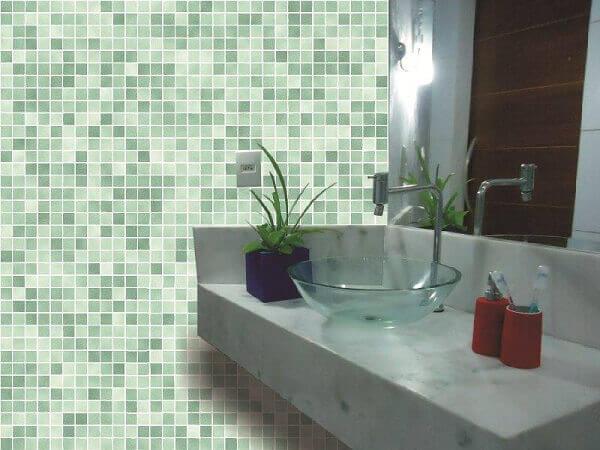 Revestimento para banheiro verde