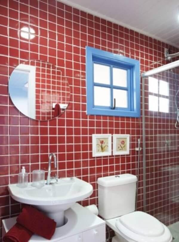 Revestimento para banheiro vermelho