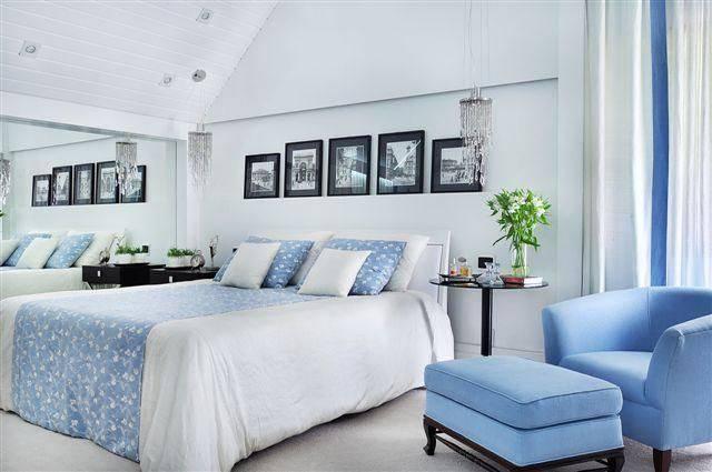 apartamendo decorado quarto de casal com azul patricia covolo 50296