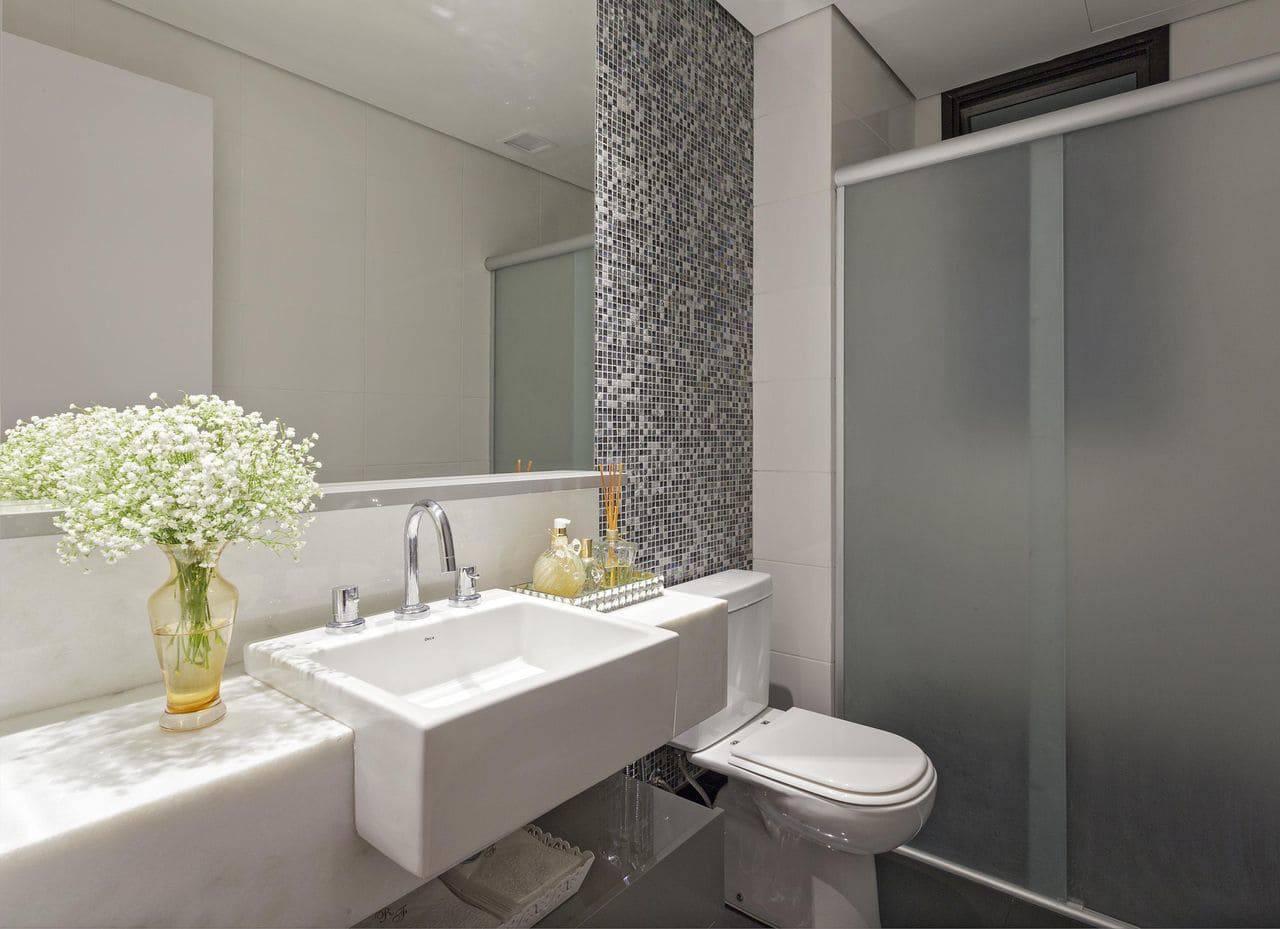 apartamento decorado banheiro com flores amis arquitetura design 103655