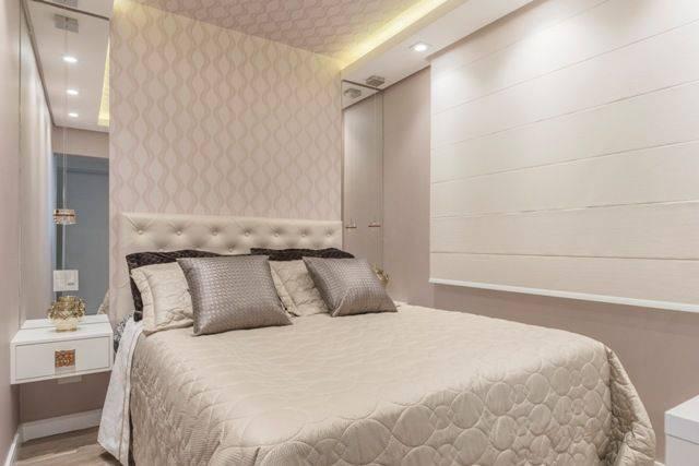 apartamento decorado quarto de casal pequeno cassia giacomazzi 151292