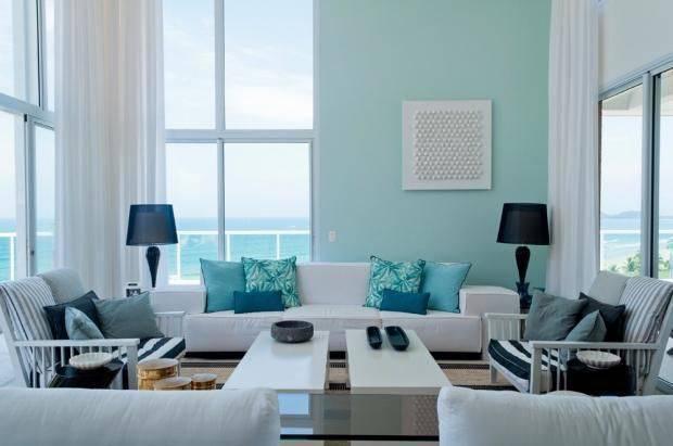 apartamento decorado sala de estar com tons de azul toninho noronha 7877
