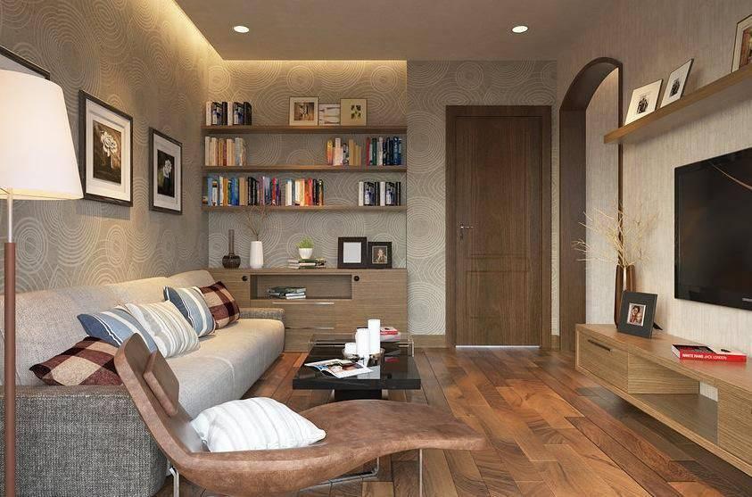 apartamento decorado sala de estar piso de madeira revistavd 14001