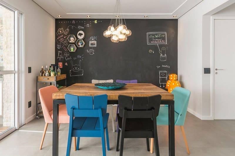 apartamento decorado sala de jantar com cadeiras diferentes idealizzare arquitetos 155811
