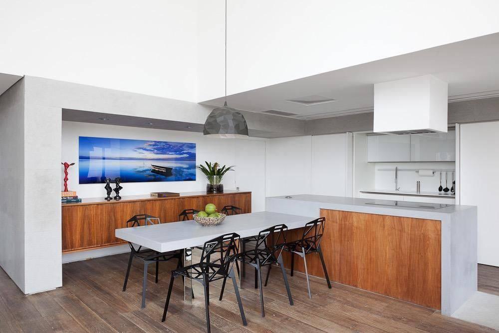 apartamento decorado sala de jantar e cozinha ornare 21214