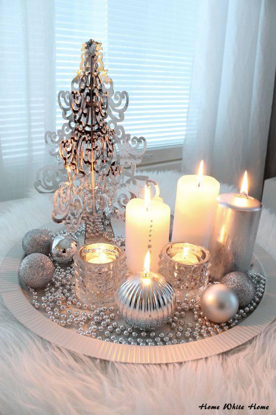 arranjos de natal para mesa centro de mesa com velas