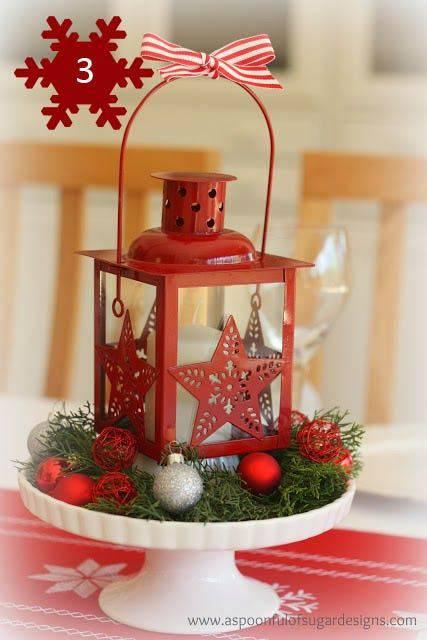arranjos de natal para mesa luminaria com prato
