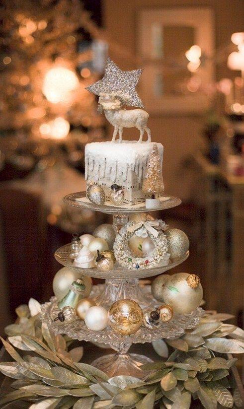 arranjos de natal para mesa porta doces com bolas
