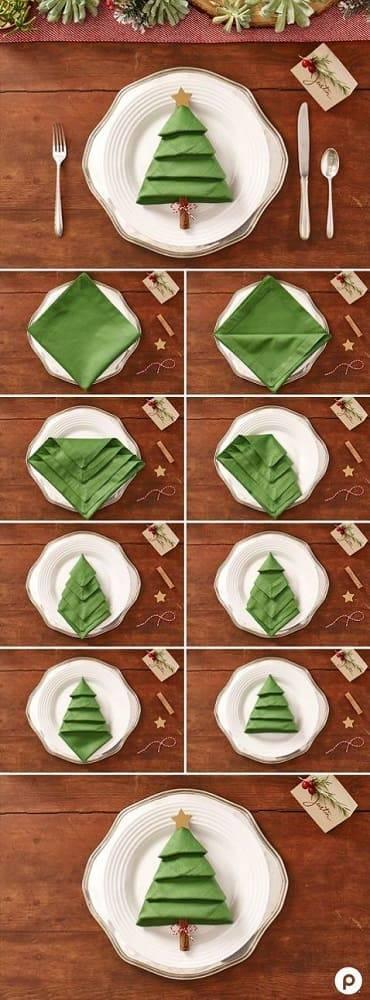 arranjos de natal para mesa tutorial guardanapo