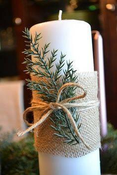 arranjos de natal para mesa vela detalhe