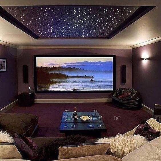 Home Theater Design And Ideas: Cinema Em Casa: 55 Dicas Para Caprichar No Ambiente