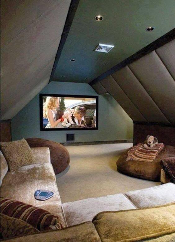 cinema em casa com isolamento acustico
