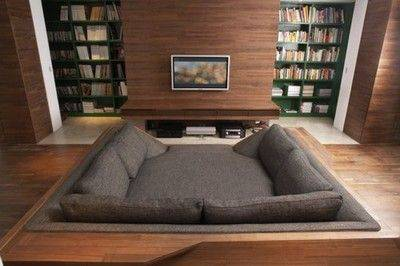 cinema em casa com sofa aconchegante