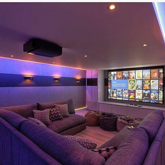 Home Entertainment Design Ideas: Cinema Em Casa: 55 Dicas Para Caprichar No Ambiente