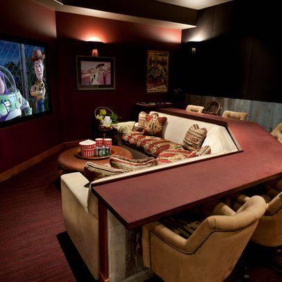 cinema em casa funcional bar com balcao