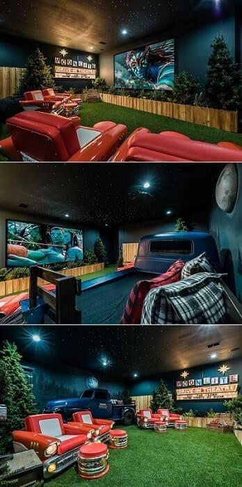 cinema em casa no estilo drive in