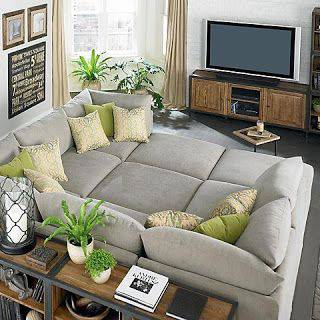 cinema em casa sofa com modulos quadrados