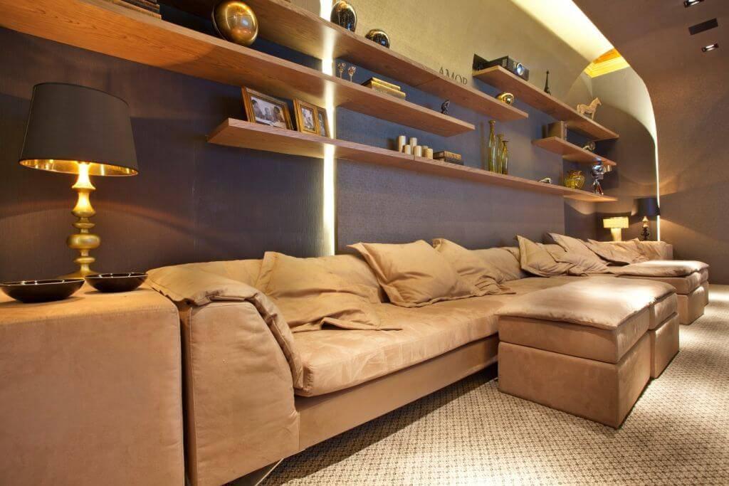 cinema em casa sofa com prateleiras guardini stancati 150546