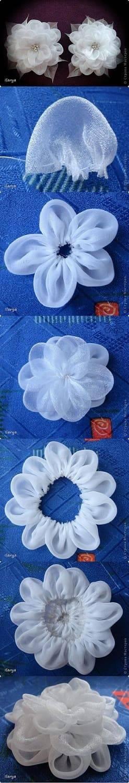 como fazer flor de tecido fino