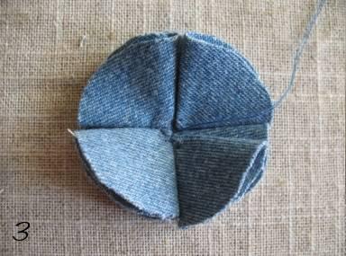 como fazer flor de tecido tutorial 3
