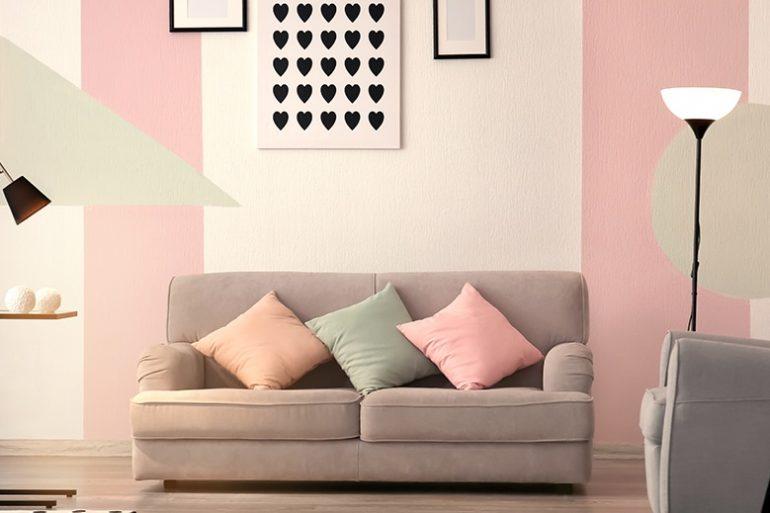 decoração para sala em tons pastéis Foto Pinterest