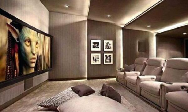 Poltronas confortáveis para a sala de cinema