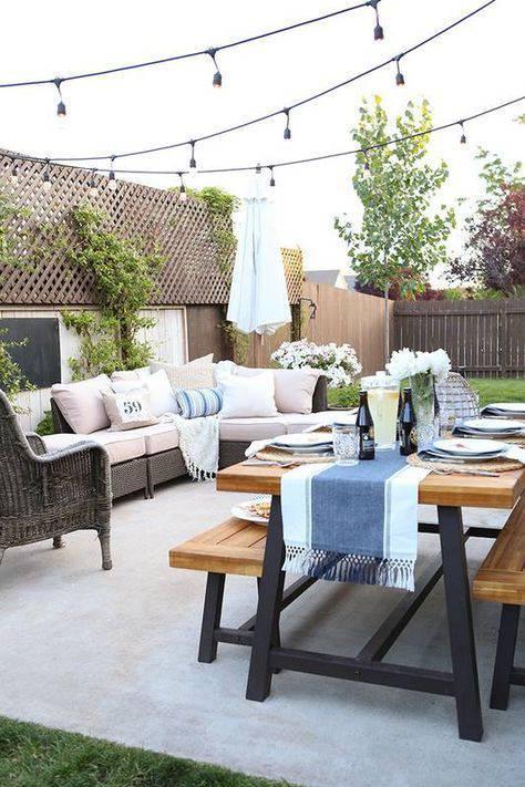 moveis para jardim com mesa e sofa