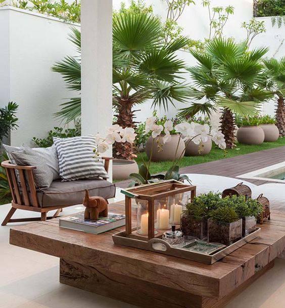moveis para jardim mesa de centro de madeira