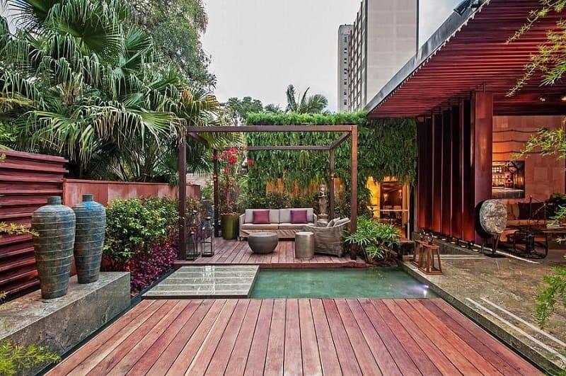 moveis para jardim sofa e vasos elmor arquitetura 93480