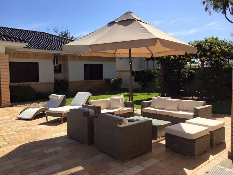 moveis para jardim sofas e guarda sol carol grespan 106072