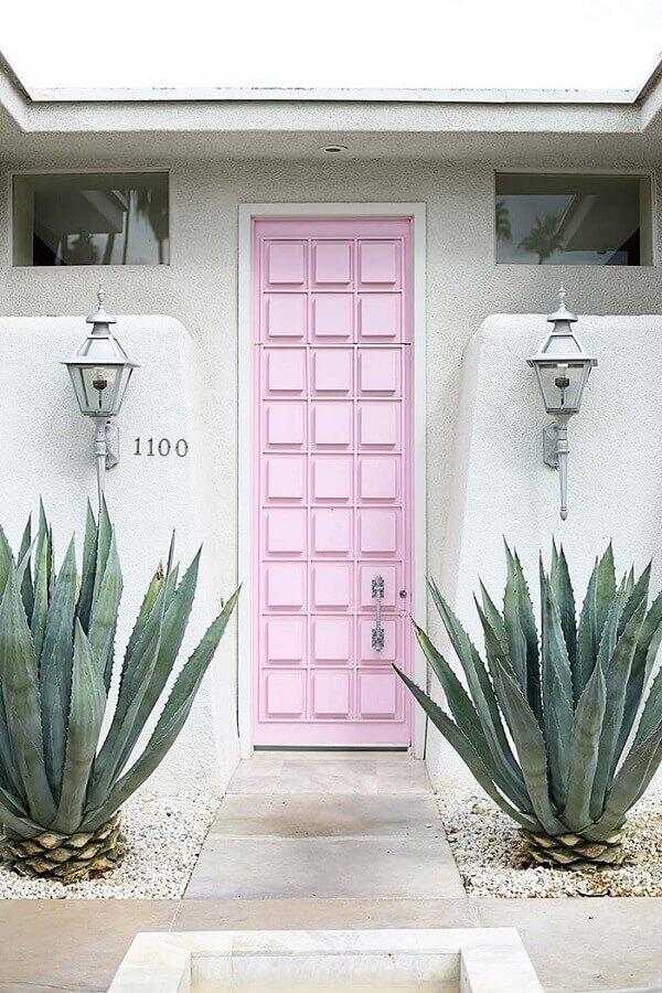 porta em rosa pastel Foto Pinterest
