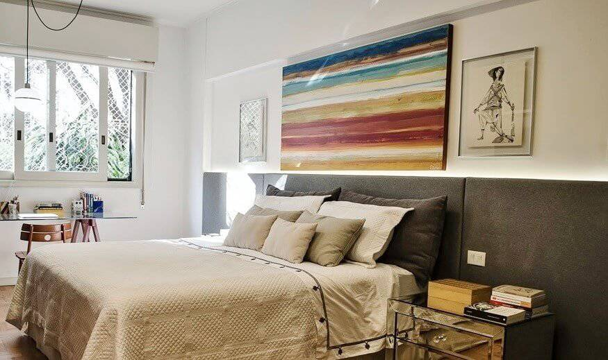 reforma de apartamento decada de 60 cama