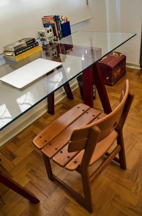 reforma de apartamento decada de 60 escrivaninha
