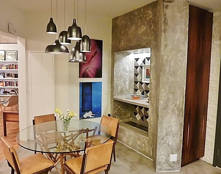 reforma de apartamento decada de 60 sala jantar