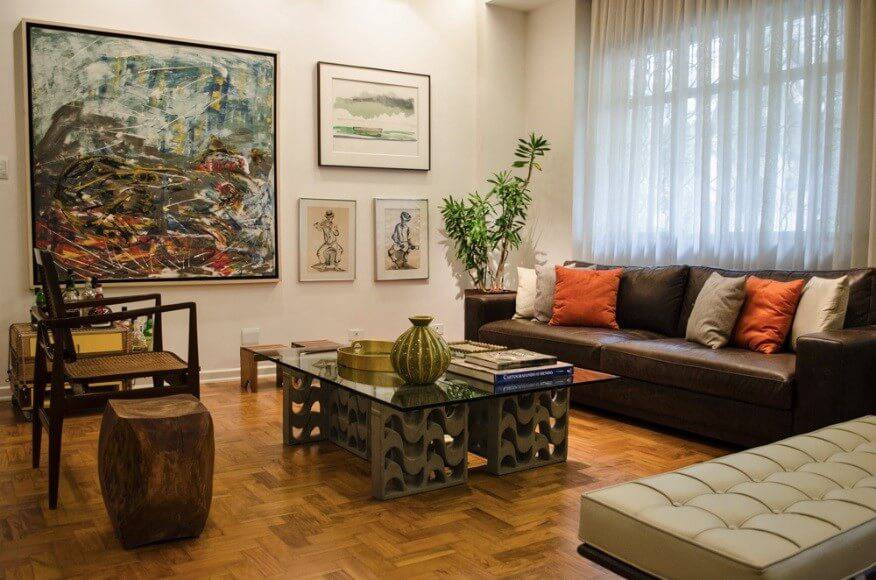 reforma de apartamento decada de 60 sala