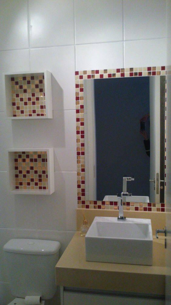 revestimento para banheiro pastilha adesiva com nichos