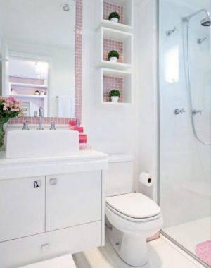 revestimento para banheiro pastilha adesiva rosa