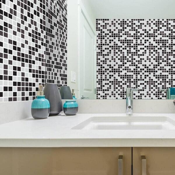 revestimento para banheiro preto