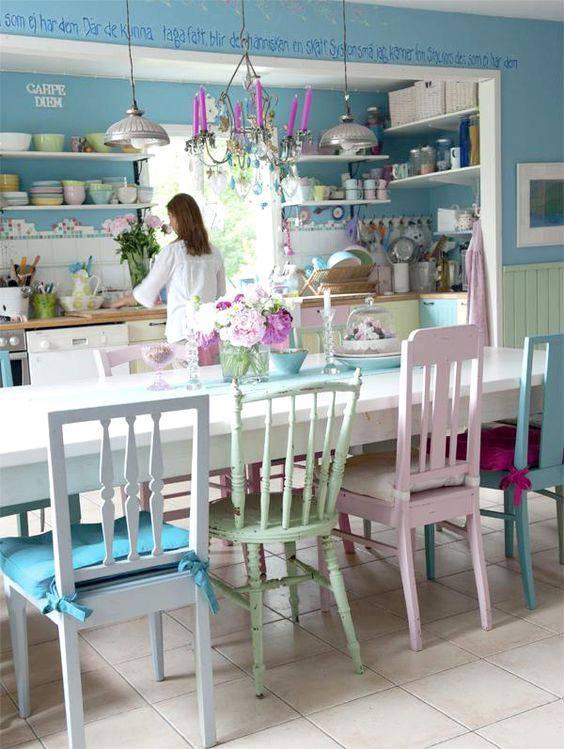 tons pasteis copa e cozinha cadeiras diferentes