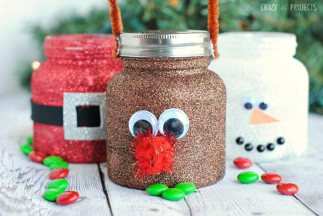 Artesanato de Natal Christmas pote