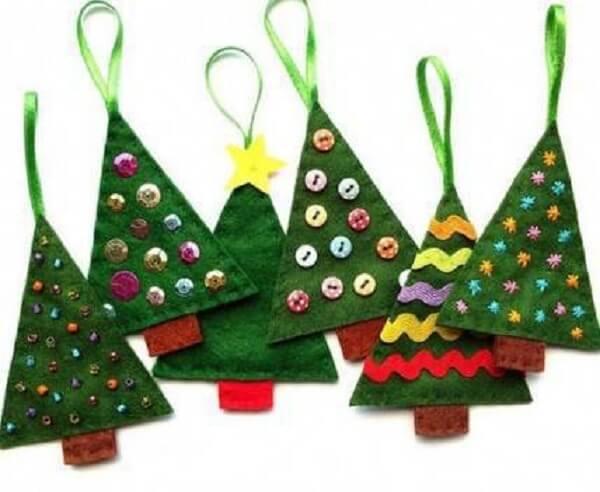 Artesanato de Natal arvore artesanal Christmas-craf